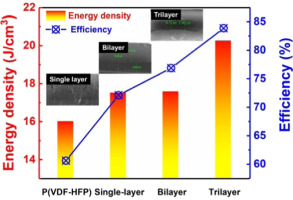 Multilayered ferroelectric polymer films incorporating low