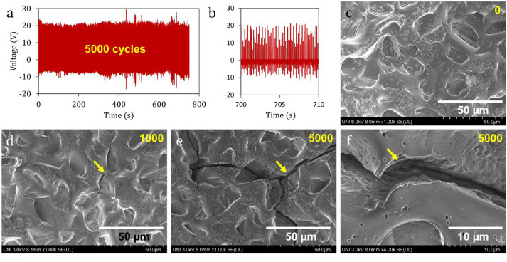 Enhanced-performance bio-triboelectric nanogenerator based on starch