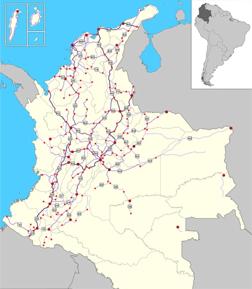 Roads And Trade In Colombia ScienceDirect - Road map of colombia 2006