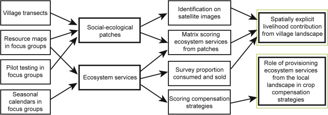 Assessment of ecosystem services and benefits in village
