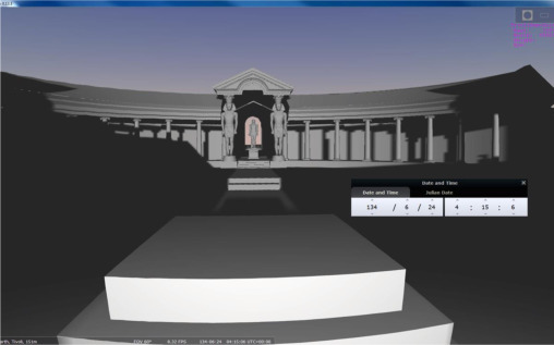 Archaeoastronomical experiments supported by virtual