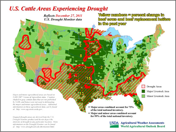 The U.S. drought of 2012 - ScienceDirect Drought Map Usa on