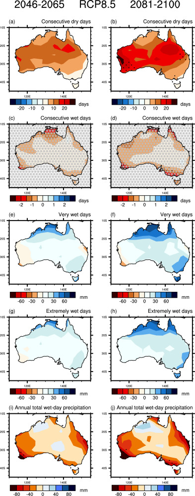 Historical and projected trends in temperature and precipitation ...