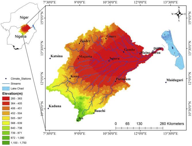 Analysis of climate extreme indices over the Komadugu-Yobe basin