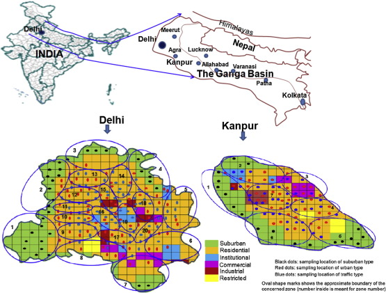 Passive measurement of NO2 and application of GIS to