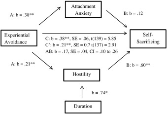 Do attachment anxiety and hostility mediate the relationship between