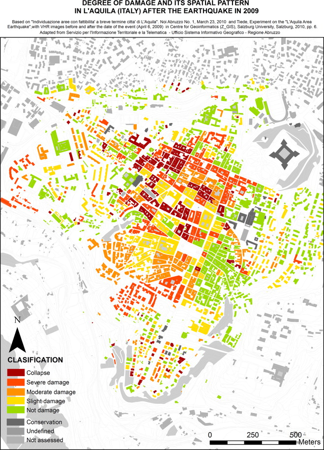 Aquila Italy Map.Myths And Realities About The Recovery Of L Aquila After The