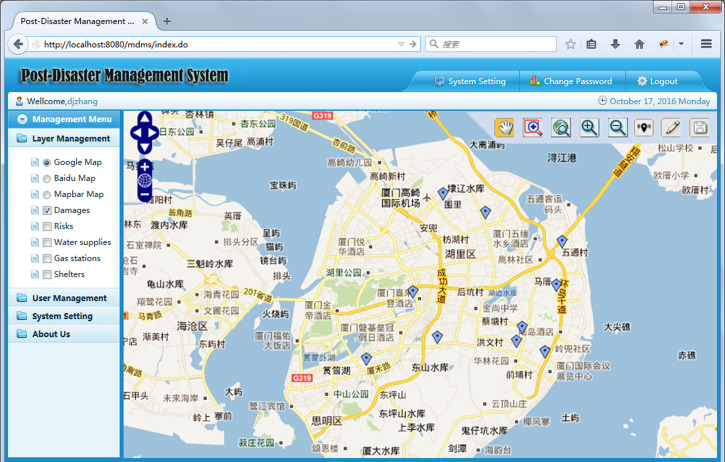 Development of a mobile post-disaster management system