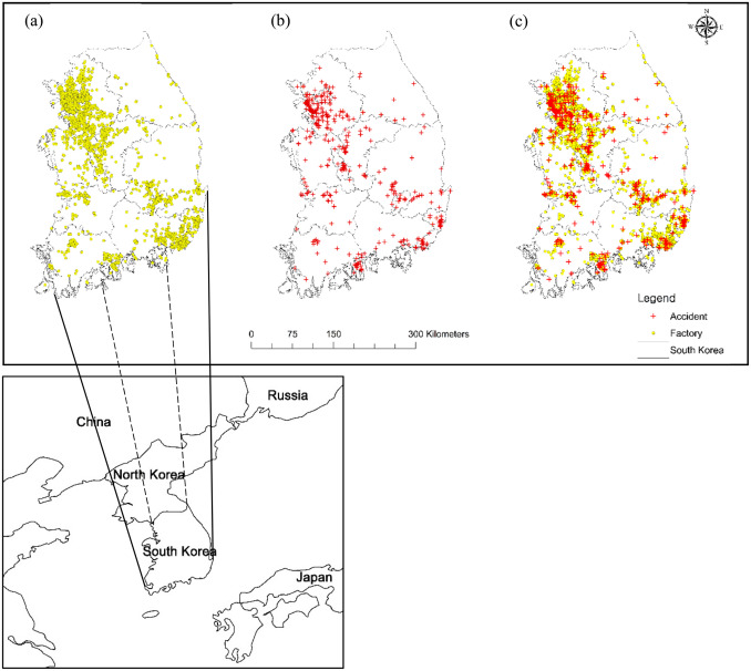 Chemical accident hazard assessment by spatial analysis of
