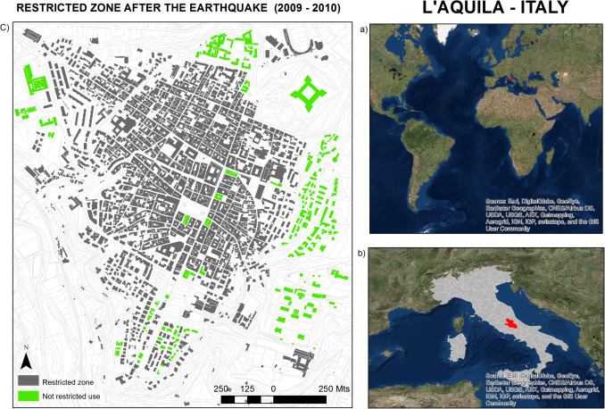 Measuring the progress of a recovery process after an earthquake