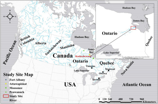 Map Of Canada James Bay.Flooding In The James Bay Region Of Northern Ontario Canada