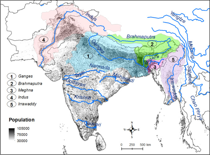 Map 31 Texas River Basins.Spatio Temporal Changes In Terrestrial Water Storage In The