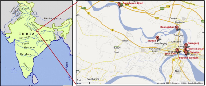 where is the ganges river located