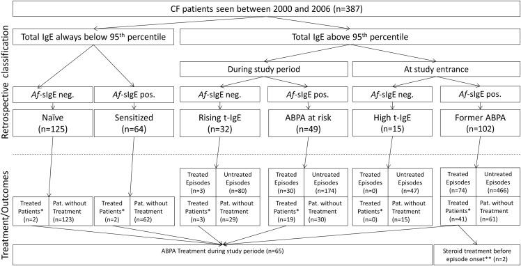 Increasing Total Serum IgE, Allergic Bronchopulmonary