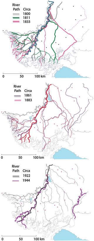 Anthropocene metamorphosis of the Indus Delta and lower floodplain on new guinea on map, yellow sea on map, andaman sea on map, sumatra on map, persian gulf on map, the alps on map, ganges on map,