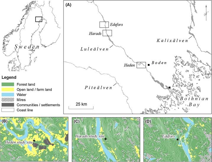 Boden Kommun Region Map: Bovallen Edefors | Sweden
