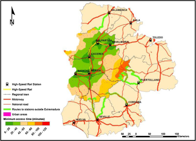 A methodology to assess the connectivity caused by a transportation