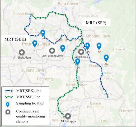 Kuala Lumpur Subway Map Overlay.The Carbon Savings And Health Co Benefits From The Introduction Of