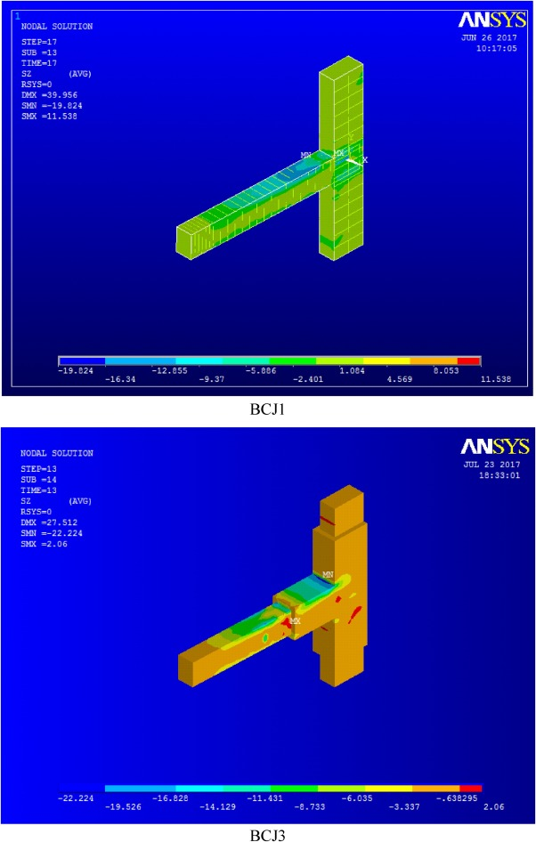 Finite element modeling of exterior beam-column joints