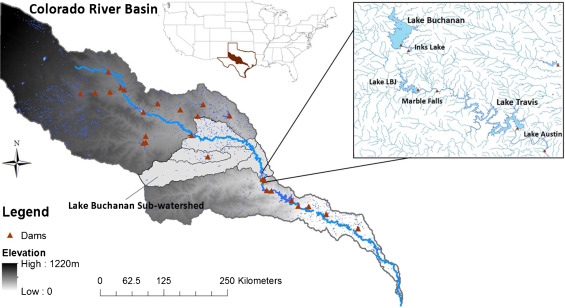 Map 31 Texas River Basins.Development And Evaluation Of A Physically Based Lake Level Model