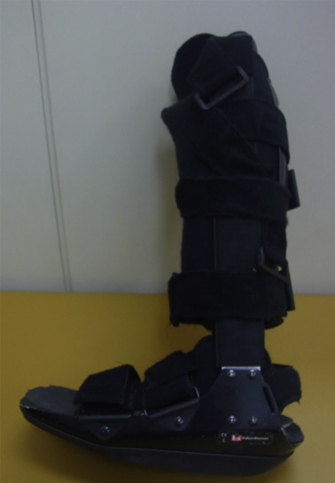Shorter recovery can be achieved from using walking boot after