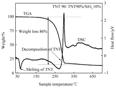 Studies on impact sensitivity of nanosized trinitrotoluene