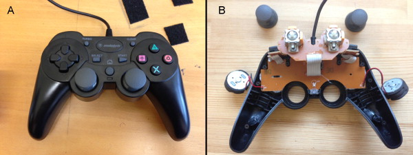 Game controller modification for fMRI hyperscanning experiments in a