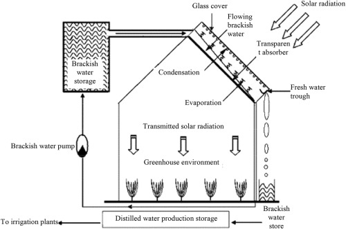 Water production for irrigation and drinking needs in remote