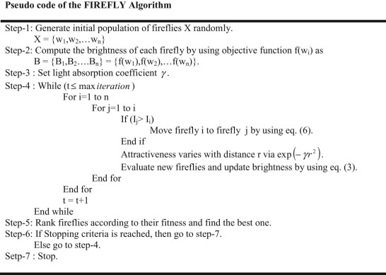 A novel nature inspired firefly algorithm with higher order