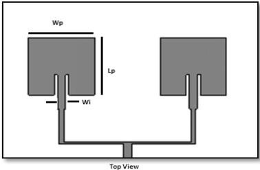 patch antenna ground plane size