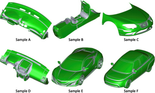 Visualizing sphere-contacting areas on automobile parts for ECE