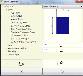 Development of educational software for beam loading