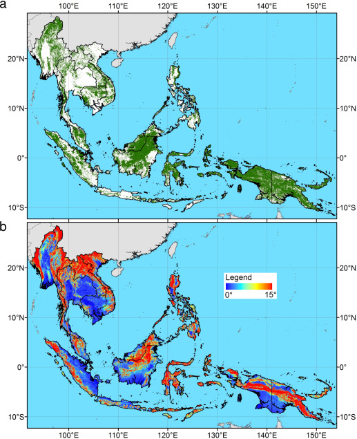 Map Of Asia Via Satellite.Remote Sensing Of Forest Degradation In Southeast Asia Aiming For A