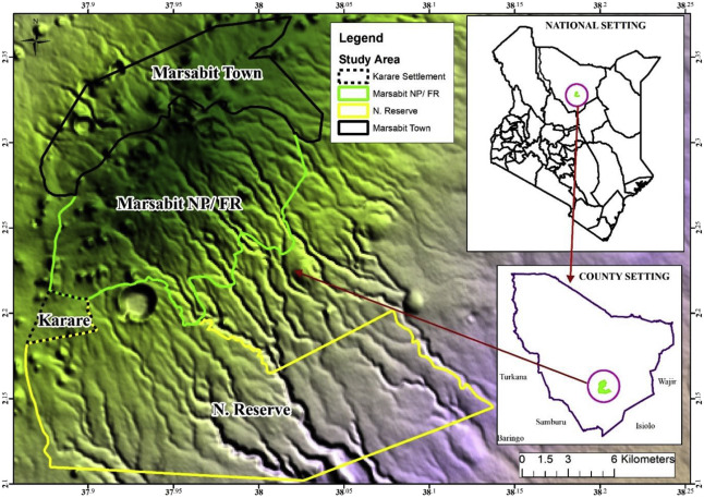 Land use and land cover changes in a sub-humid Montane forest in an