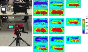 Visualization of flow patterns in a cell of redox flow battery by