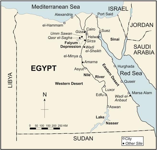 Ancient Egypt Map Libyan Desert