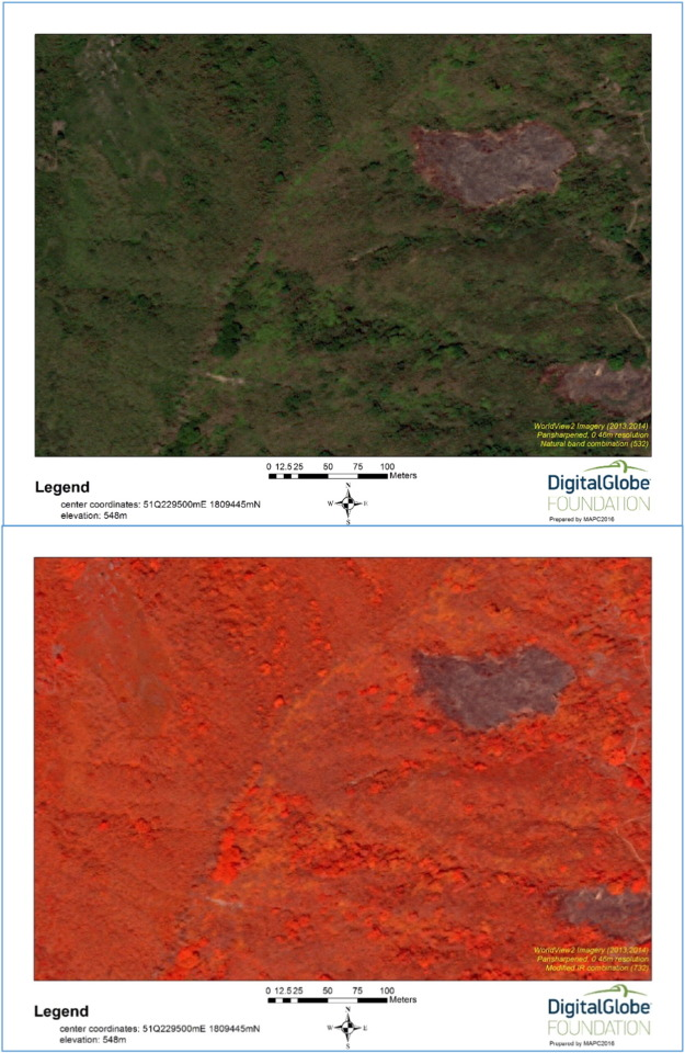 WorldView2 satellite imagery in remote sensing a past gold trading