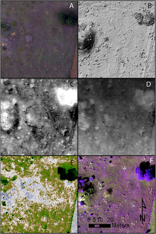 Detecting prehistoric landscape features using thermal