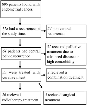 Vaginal vault recurrences of endometrial cancer in non-irradiated