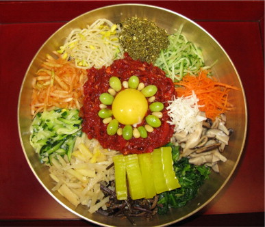 Historical and biological aspects of bibimbap a korean ethnic food a famous korean traditional meal jeonju bibimbap it is a rice dish topped with a variety of colored vegetables and mixed with gochujang1 forumfinder Choice Image