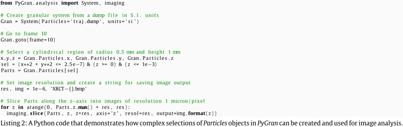 PyGran: An object-oriented library for DEM simulation and analysis