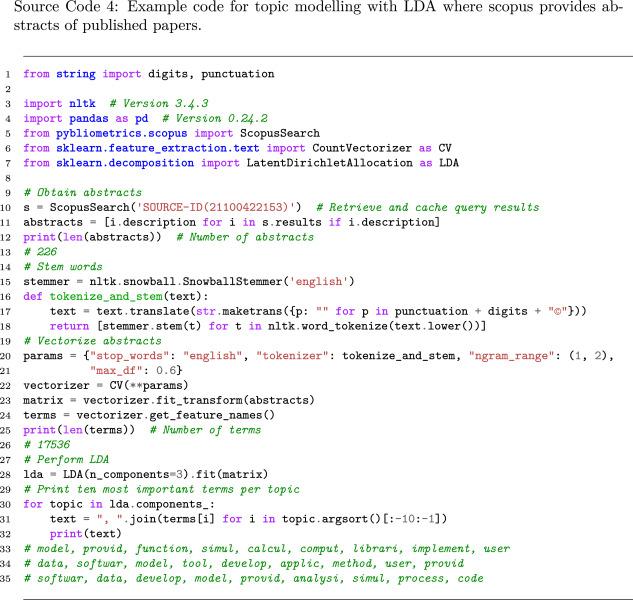 pybliometrics: Scriptable bibliometrics using a Python