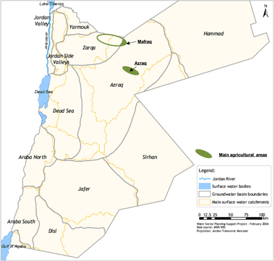 Water And Sand Is Groundwaterbased Farming In Jordans Desert - Groundwater prospect map of egypt's qena valley