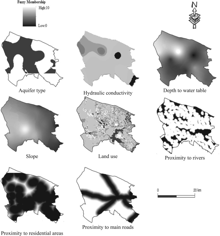 Evaluation of groundwater vulnerability to pollution using a GIS