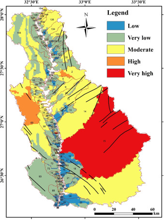 Flash Flood Hazard Zonation Based On Basin Morphometry Using - Groundwater prospect map of egypt's qena valley