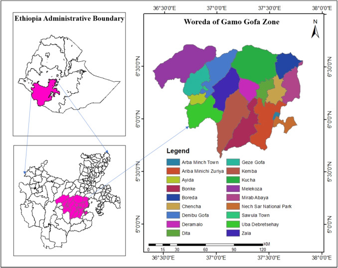 Spatial accessibility analysis of healthcare service centers