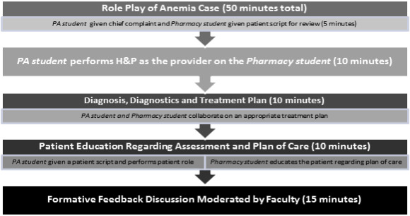 Anemia interprofessional team role-play case for students in