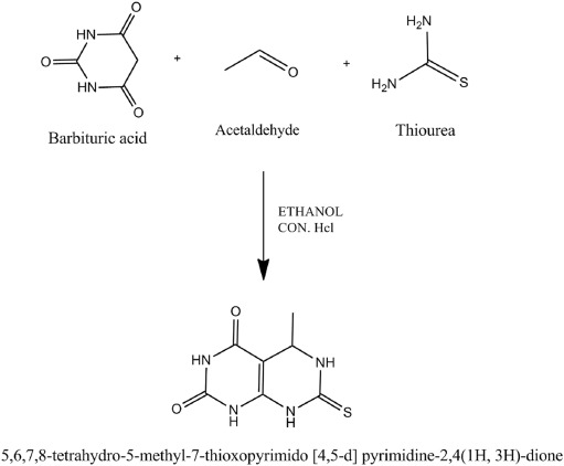 synthesis molecular characterization of pyrimidine derivative a