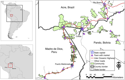 Highway paving in the southwestern Amazon alters long-term