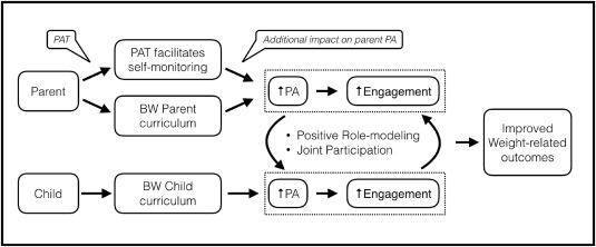 Effect of personal activity trackers on weight loss in families